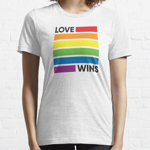 Rainbow Flag Love Wins - LGBT Pride Essential T-Shirt