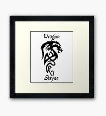 Tribal Dragon Slayer Framed Print