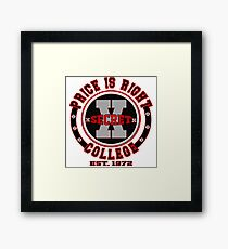 TV Game Show - TPIR (The Price Is...) Back To School Show - College Framed Print