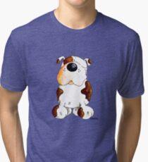 Happy English Bulldog Tri-blend T-Shirt