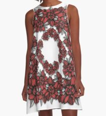 pion line pattern A-Line Dress