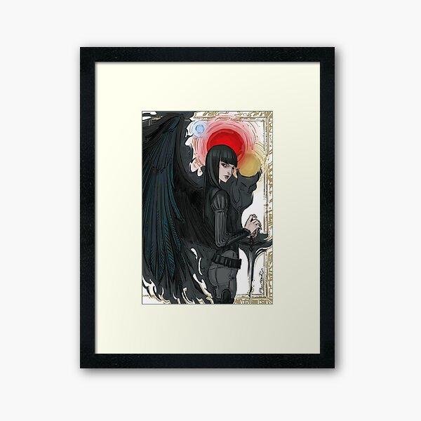 crow Mia Framed Art Print