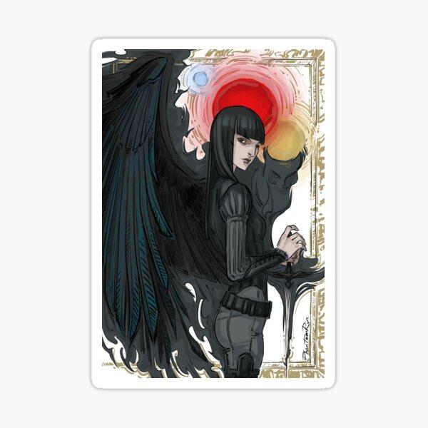 crow Mia Sticker