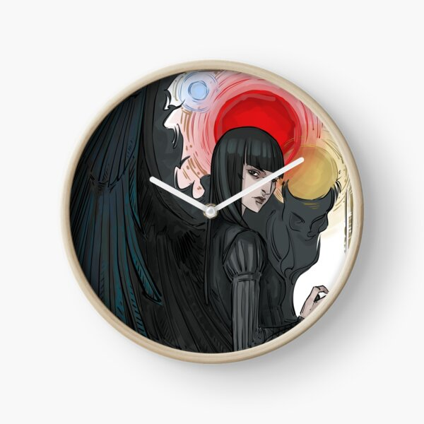 crow Mia Clock