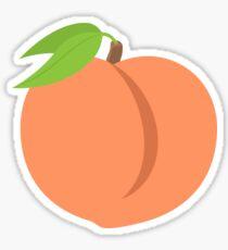 peach smiley Sticker