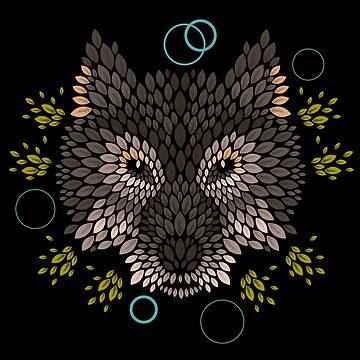 Cara de lobo de Letter-Q