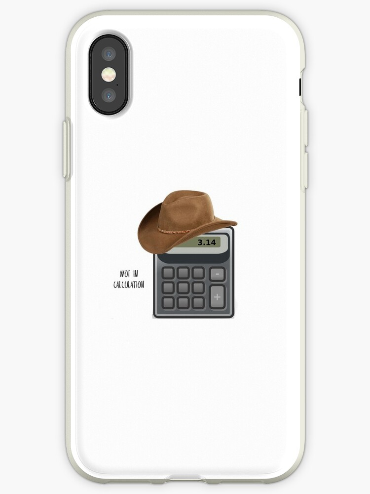 'Wot in calculation' iPhone Case by Emma-Geek