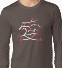 Chinese 'Ai' (Love) Calligraphy With Red Cherry Blossoms On White Branches   Japanese Sakura Kanji T-Shirt