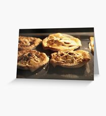 Puff Pastry Pies In oven baking tray Greeting Card