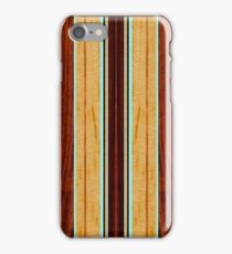 Nalu Hou Faux Koa Wood Hawaiian Surfboard - Aqua iPhone Case/Skin