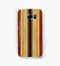 Nalu Hou Faux Koa Wood Hawaiian Surfboard - Aqua Samsung Galaxy Case/Skin
