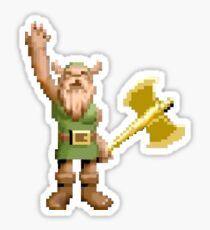 Golden Axe Gilius Thunderhead Dwarf Sticker