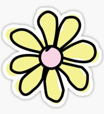 Flower Yellow Sticker