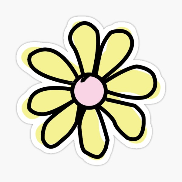 Flower Yellow Sticker