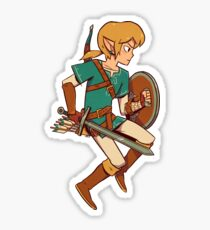 Link zelda breath of the wild sword Sticker