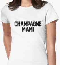 Champagne Mami [White] Women's Fitted T-Shirt