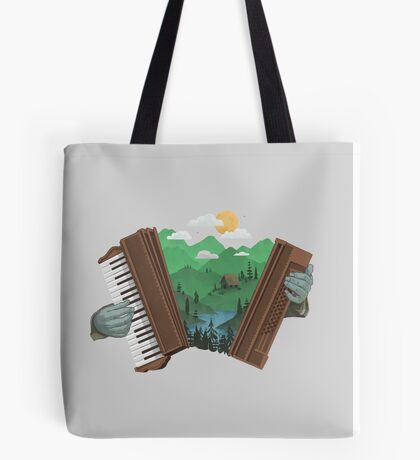 Accordionscape Tote Bag