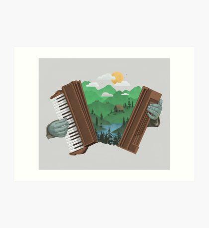 Accordionscape Art Print