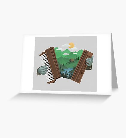 Accordionscape Greeting Card