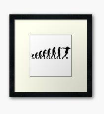 Soccer Evolution Framed Print