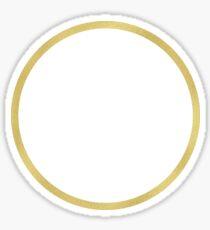 We Women Gold Circle Sticker