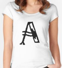 A Big Funky Letter A Women's Fitted Scoop T-Shirt