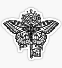Butterfly and key Sticker