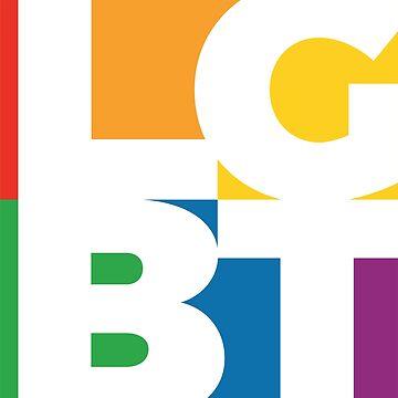 Patrón colorido minimalista LGBT - Gay Pride Mondrian de LGBTIQ