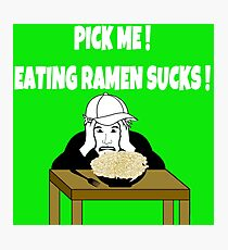 TV Game Show - TPIR (The Price Is...) Back To School Show - Ramen Photographic Print