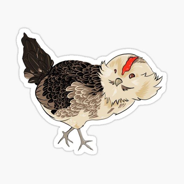 Chibi Sparta The Barbu d'Anvers Hen Sticker