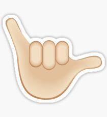 Emoji Shaka Hang Loose Surf Brah Sticker