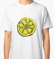 Yellow Silkscreen Lemon / The Stone Roses inspired Classic T-Shirt