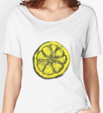 Yellow Silkscreen Lemon / The Stone Roses inspired Women's Relaxed Fit T-Shirt