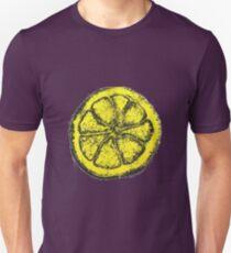Yellow Silkscreen Lemon / The Stone Roses inspired Unisex T-Shirt