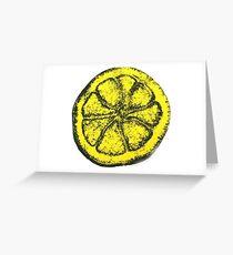 Yellow Silkscreen Lemon / The Stone Roses inspired Greeting Card