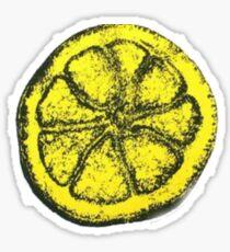 Yellow Silkscreen Lemon / The Stone Roses inspired Sticker