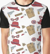 Agent Carter all over print- regular Graphic T-Shirt