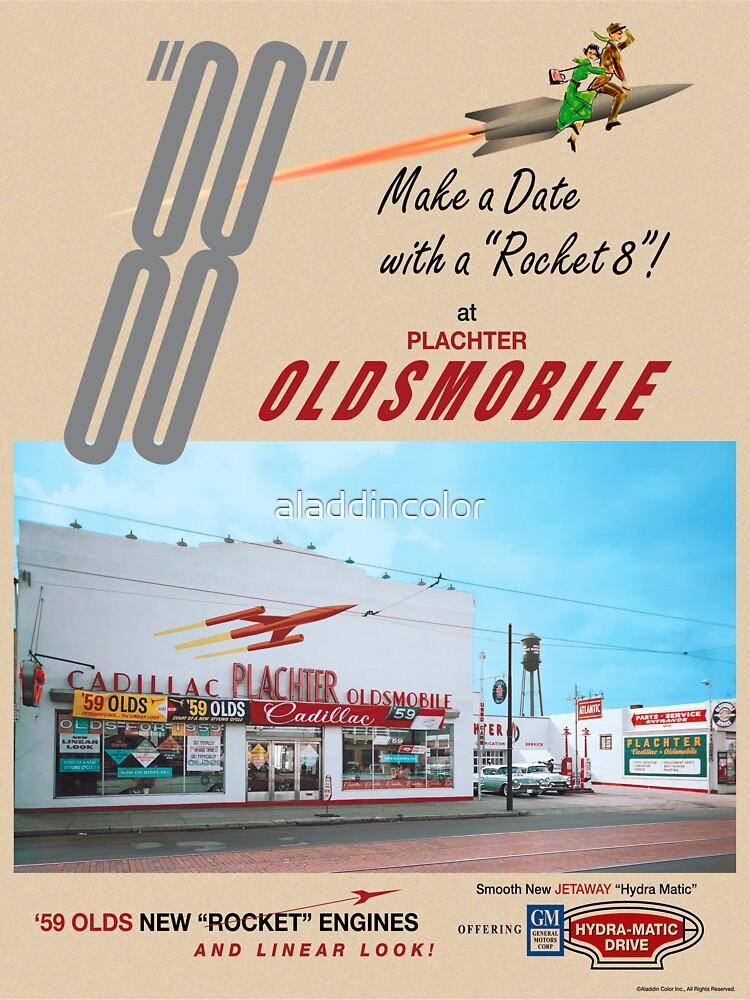 Retro Auto Ad for Platcher Oldsmobile Cadillac 1959 by aladdincolor