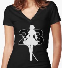 Nier Automata - 2B Women's Fitted V-Neck T-Shirt
