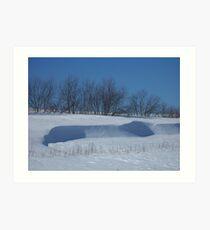 Winter Hilltop Art Print