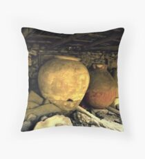 Greeks Sure loved Wine and Olive Oil Throw Pillow