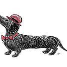 Art of Dachshund - Dachshund Lover  Scribble Dog by dvampyrelestat