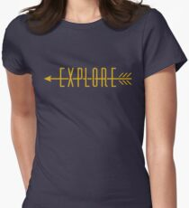 Explore (Arrow) Women's Fitted T-Shirt