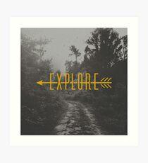 Explore (Arrow) Art Print