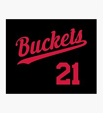 Buckets retro Script 2 Photographic Print