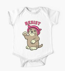 Resist Pink Pussy Cat in Hat Kids Clothes