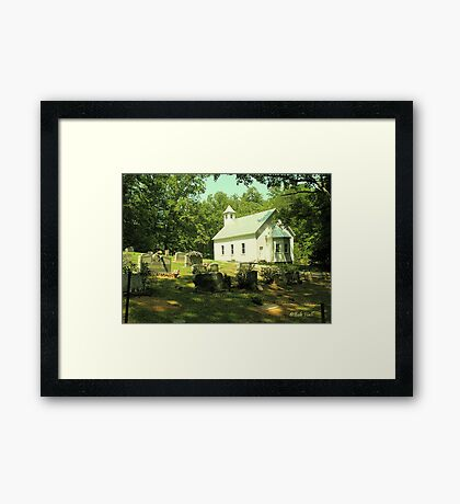 """""""Cades Cove Missionary Baptist Church""""... prints and products Framed Print"""