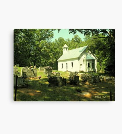 """Cades Cove Missionary Baptist Church""... prints and products Canvas Print"