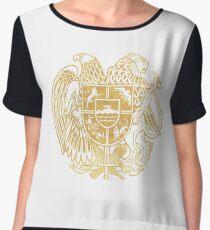ARMENIAN COAT OF ARMS - Gold Chiffon Top