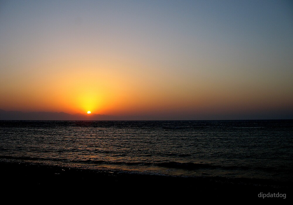 Sunset Over the Red Sea by dipdatdog